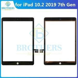 Для iPad 10,2 7th Gen A2200 A2198 A2232 сенсорный экран для iPad 7 iPad7 сенсорный дигитайзер стекло сенсорный экран передняя стеклянная панель тест