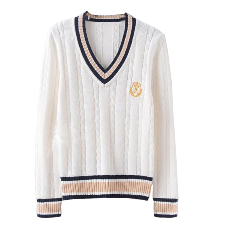 2021 Korean Kolf Ladies V-Neck Spring And Autumn Cotton Sweater, Golf Men's Plus Size Casual V-Neck Knitted Sweater, The Same St