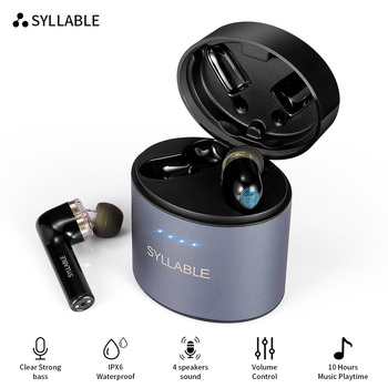 SYLLABLE S119 Strong bass TWS wireless headset noise reduction for music QCC3020 Chip of SYLLABLE S119 wireless sport Earphones фото