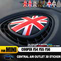 Юнион Джек центр выход воздуха 3D выделенный чехол Защитная Наклейка для MINI COOPER F54 F55 F56 Clubman аксессуары для интерьера