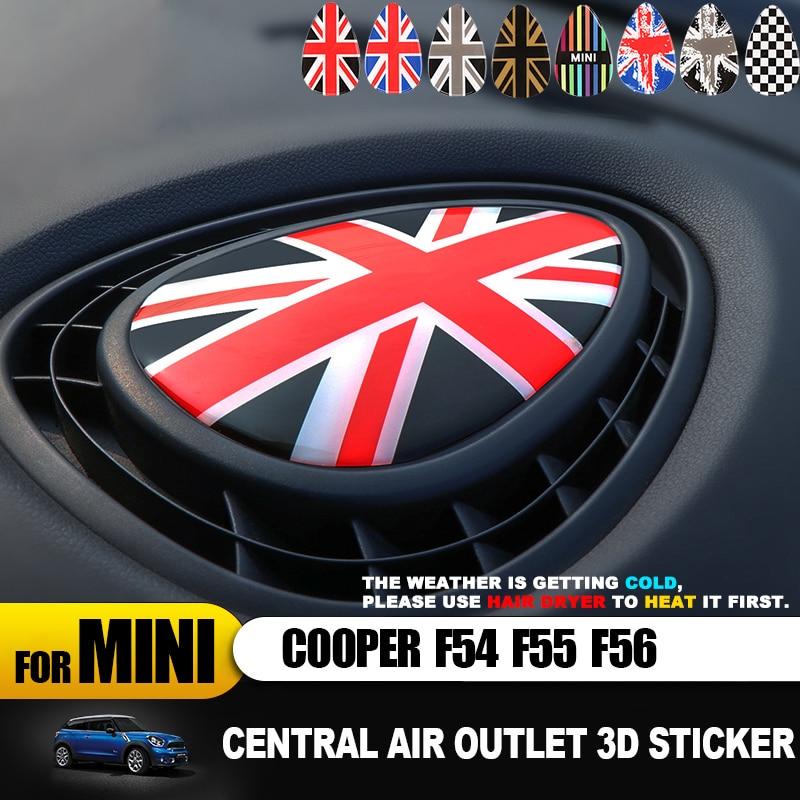 Union Jack sortie d'air centrale 3D couverture dédiée protéger autocollant décalcomanie pour MINI COOPER F54 F55 F56 Clubman accessoires intérieurs