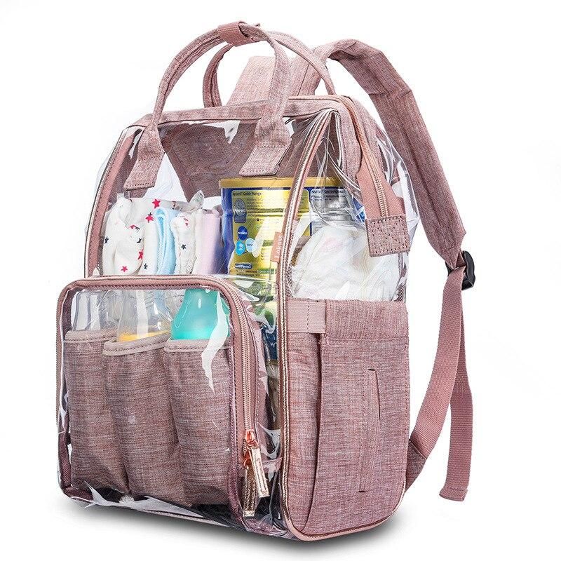 Gran capacidad de moda momia bolsa de pañales de maternidad mochila de viaje de bebé diseñador bolsa de lactancia impermeable para el cuidado del bebé bolsa de pañales