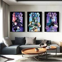 strong Import List strong Obraz na płótnie Disney Star Wars portret Vader Yoda Retro plakaty i druki obrazy na ścianę do salonu dekoracji wnętrz tanie tanio CN (pochodzenie) Wydruki na płótnie Pojedyncze PŁÓTNO akwarelowy abstrakcyjne bez ramki Malowanie natryskowe Pionowy prostokąt