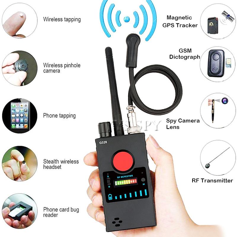 Профессиональный G328 мини шпион Скрытая Камера детектор радиочастот сигнала откровенный Cam Магнитный GPS локатор Беспроводной аудио ошибка ...