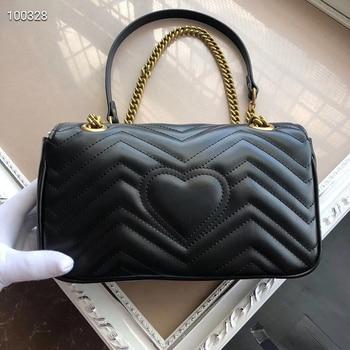 Marmont Love Chain Bag Double G Dionysus Bag Wave Pattern Mini One Shoulder Messenger Classic Mini GG Women's Bag