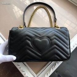 Sac à chaîne d'amour Marmont double g sac dionysos motif vague mini une épaule messager classique Mini GG sac pour femme