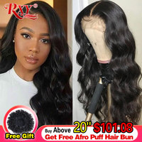 RXY Lace Front Human Hair Wigs 360 Lace Frontal Wig Body Wave 13x6 Lace Front Wig Brazilian Remy Human Hair Wigs For Women Black