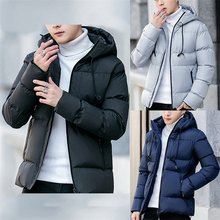 HENCHIRI Nieuwe Dikke Warme Winter Jas Mannen Hooded Ongedwongen Outdoor Man Jas Parka Mode Windjack Mannen Overjas Hooded Winddicht(China)