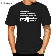 Jesus disse ar-15 camisa-lucas 22 36 bíblia versos verão manga curta algodão fashiont camisa