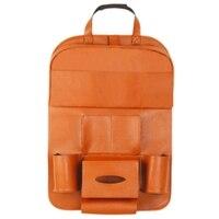 Pu Leather Pad Bag Car Seat Back Organizer Foldable Table Tray Travel Storage Bag Foldable Dining Table Car Seat Storage Bag|Stowing Tidying|   -