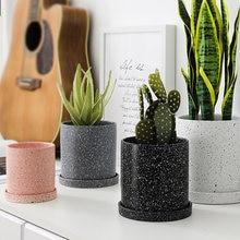 Керамический семейный контейнер для вазы зеленый ящеристый цветочный