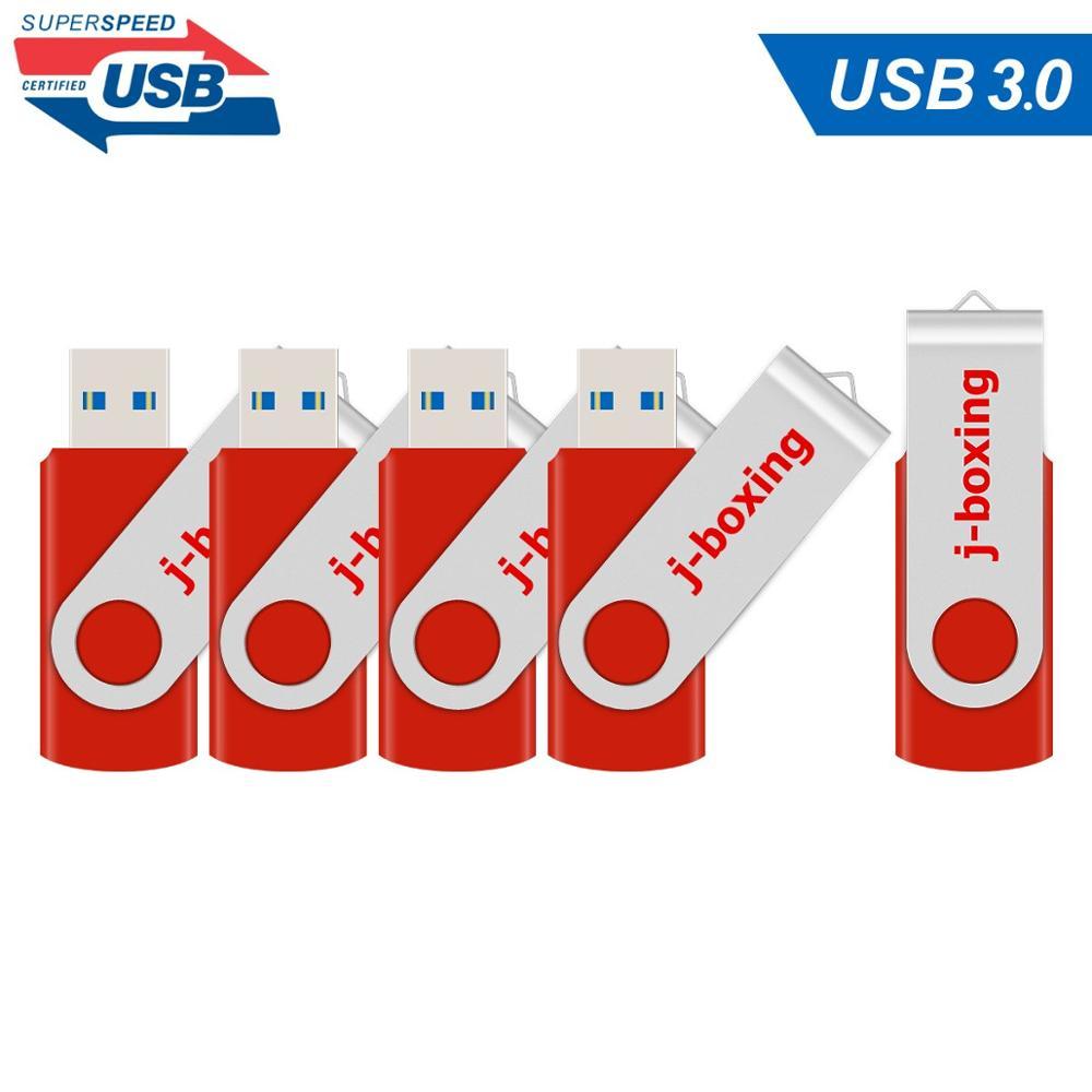 Usb-3.0 Flash-Drive Rotating-Flash Disk Memory-Stick 16GB 32GB Red 64GB Metal Pen 5-Lots