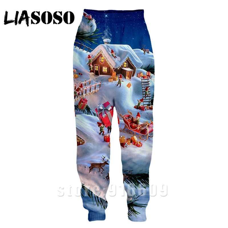3d Druck Männer Frauen Weihnachten länge mode jogger weihnachten winter Harajuku Santa Claus Sweatpant Hosen anime Sport hosen
