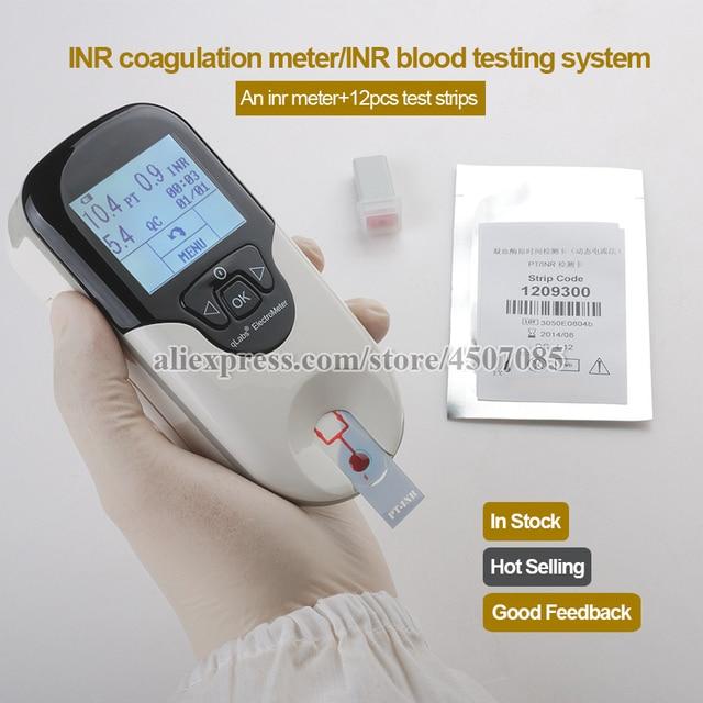 אישור CE עצמי מבחן שימוש כף יד מחירים ב INR מטר קרישה עם INR דם בדיקות מערכת בתוספת 12pcs PT מטר רצועות