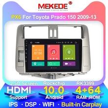4G RAM+64G ROM 4G LTE Android 10.0 HD IPS 2.5D Car Radio Multimedia For Toyota PRADO 150 2010 2011 2012 2013 WIFI bluetooth FM