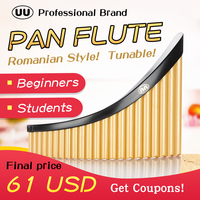 UU Pan Flute 22 Pipes Panpipes G Key Tunable Flauta ABS Plastic Romanian Base Panflute Professional Pan Pipe Musical Instrument