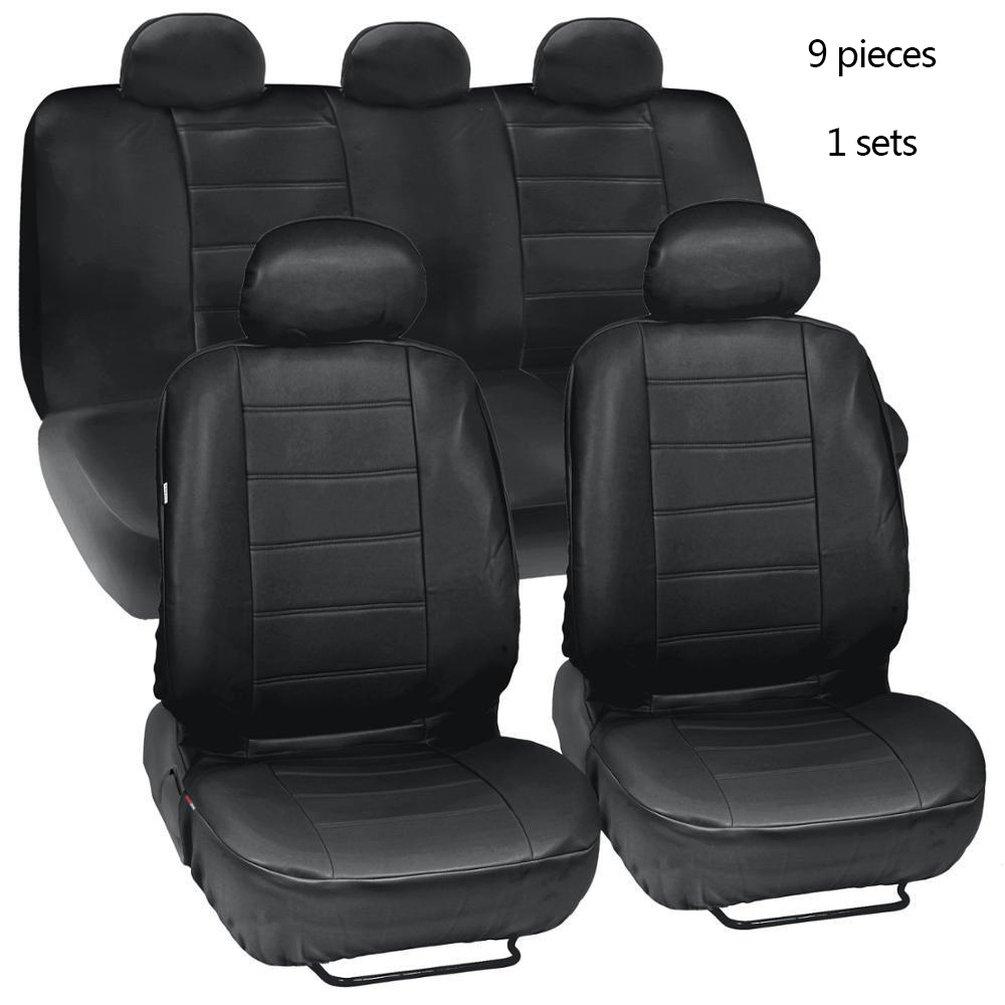 full set black leatherette Car seat covers fit Citroen DS5