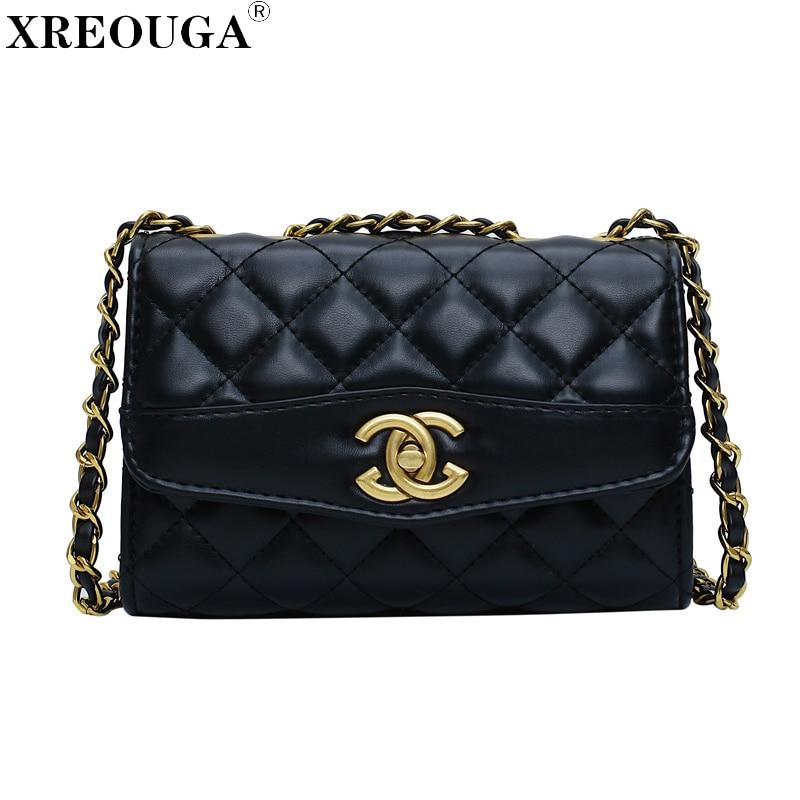 Gold Chains Luxury Clutch Handbag Women Designer Shoulder Bag Messenger Famous Brand Small Handbag Woman Crossbody Bags 2019 New