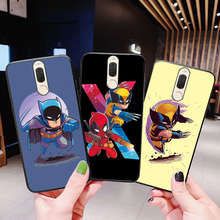 Black Widow Batman Shell For Huawei Nova 2i 3i Cases Cartoon The Avengers Black TPU Bags For Huawei Nova 2 3 4E 3E Case Bumper цена и фото