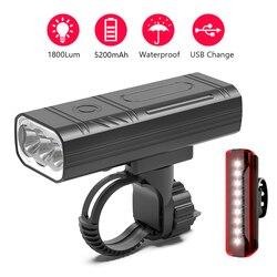 NEWBOLER 3 LED zestaw oświetleniowy rowerowy 5200mAh reflektor rowerowy USB rower na akumulator latarka wodoodporna lampa rowerowa jako Power Bank|Oświetlenie rowerowe|   -