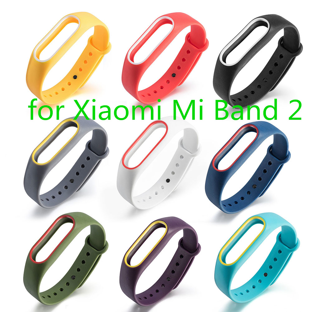 For Mi Band 2 Strap TPU Sport Wrist Strap For Double Color Anti-scratch Replacemet Creating  Wristband For Mi Band 2 Bracelet