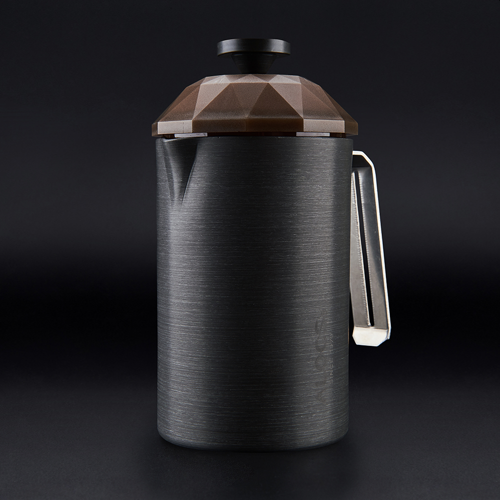 Outdoor Aluminum Alloy Coffee Maker Combo with Cups 600ml Travelling Coffee Pot 160ml Cups Portable Low-profile Teapot Gift