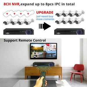 Image 4 - 5MP 1080P 8CH POE NVR CCTV سيسيوس كاميرا POE نظام في الهواء الطلق طقم مقاوم للماء 48 فولت 1T HDD ONVIF Hiseeu