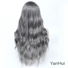 MANWEILong curlsHair Middle Part Synthetic Wig For Women Omb
