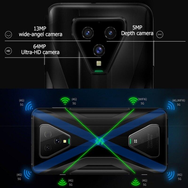 NEW Black Shark 3 5G Gaming Phone Snapdragon 865 8G 12GB Ram 128G 256GB Rom Octa Core 64MP for pubg OTA Smartphone cellphone