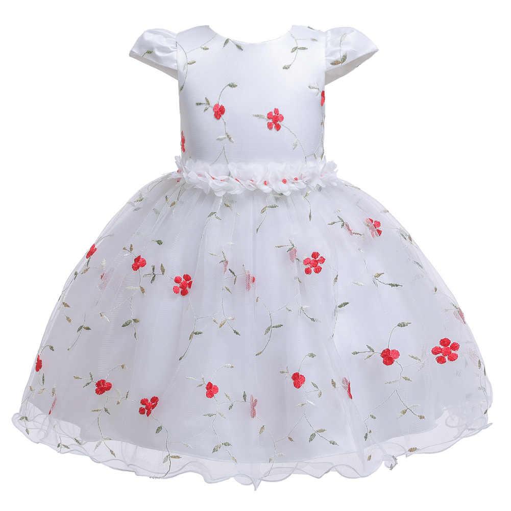 2020 Fleur Robe Filles Elegant Nouvelle Robe De Princesse Brode Robe Pour Enfants Petite Hote Fleur Fille Robe Aliexpress