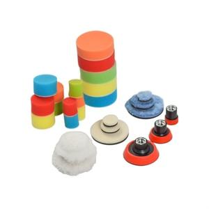 Image 4 - Ensemble de 29 pièces, 1/2/3 pouce pour perceuse, tampon de polissage, Kit de mélange de tailles + adaptateur de coussin de support M14, outils électriques, tampons de polissage