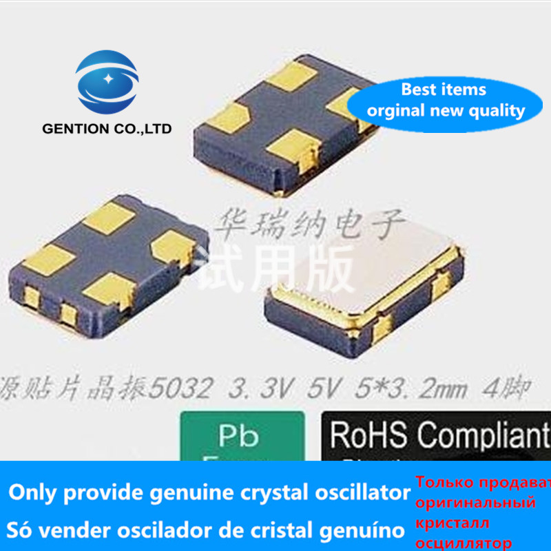 5pcs 100% Orginal New Active SMD Crystal 5032 22.0M 22.00MHZ 22.000MHZ 22M 22MHZ 5X3.2