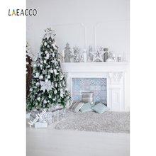 Laeacco Рождественская елка камин светильник звезда подарок