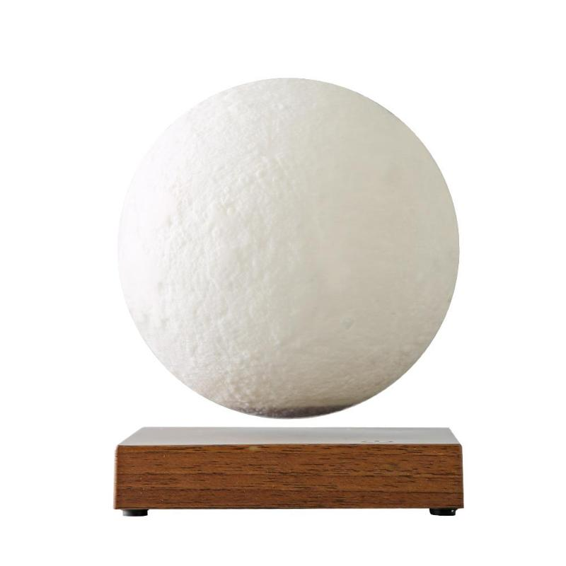 Magnetic Levitation LED Moon Lamp Wooden Base Touch 3D Print Light Bedroom Moon Night Lamp Gifts Floating Romantic Home Light