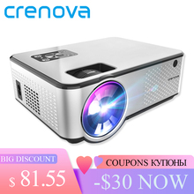 CRENOVA 2019 Newest Android Projector 1280*720P Support 4K Videos Via HDMI Home Cinema Movie LED Projector