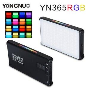 Image 1 - YONGNUO YN365 RGB 12W LED וידאו אור צבעוני צילום וידאו תאורת סטודיו DSLR מצלמה אור עבור Vlogging לחיות Sony ניקון