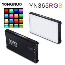YONGNUO YN365 RGB 12W LED Video Light Colorful Photography Video Lighting Studio DSLR Camera Light for Vlogging Live Sony Nikon