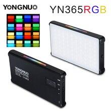 YONGNUO YN365 RGB 12W LED الفيديو الضوئي الملونة التصوير الفيديو الضوئي جي استوديو DSLR كاميرا ضوء ل Vlogging لايف سوني نيكون