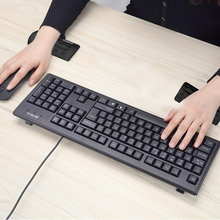 Memory Foam Mouse Wrist Rest Pad Slow Rising Silicone Gel Wrist Support Mat for Gamers, White Collars, Programmers-Black