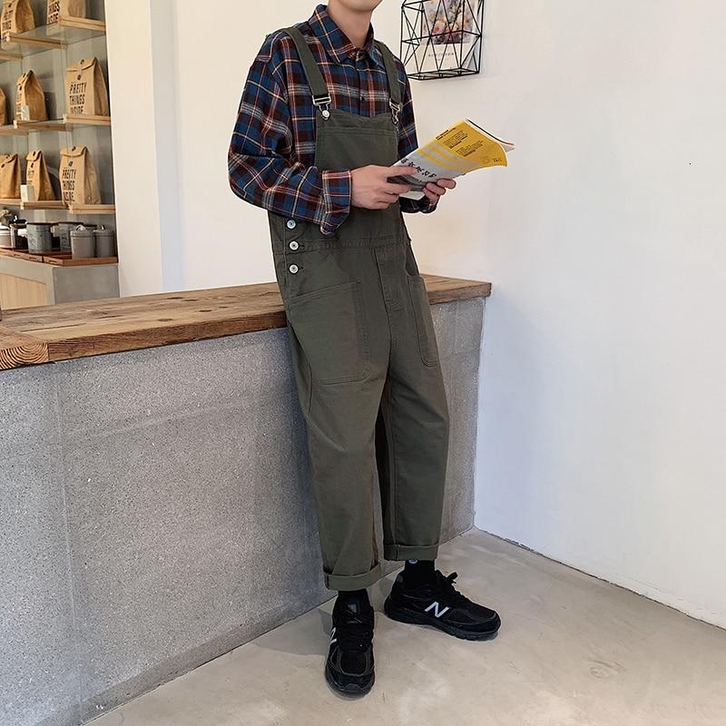Men's Leisure Harem Pants Casual Pants Male Overalls Loose Salopettes Romper Jumpsuit Baggy Homme Streetwear Trousers Size M-2XL