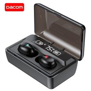 Image 1 - DACOM T8 Bluetooth TWS Tai Nghe Nhét Tai Không Dây Với Microphon, Chuyển Đổi Bài Hát, Đèn Sạc LED Màn Hình Dành Cho iPhone Samsung