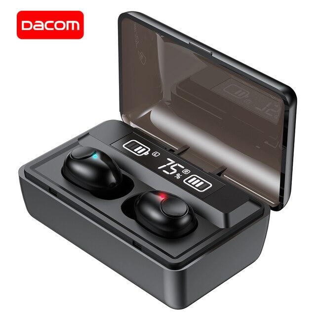 DACOM T8 Bluetooth TWS Tai Nghe Nhét Tai Không Dây Với Microphon, Chuyển Đổi Bài Hát, Đèn Sạc LED Màn Hình Dành Cho iPhone Samsung