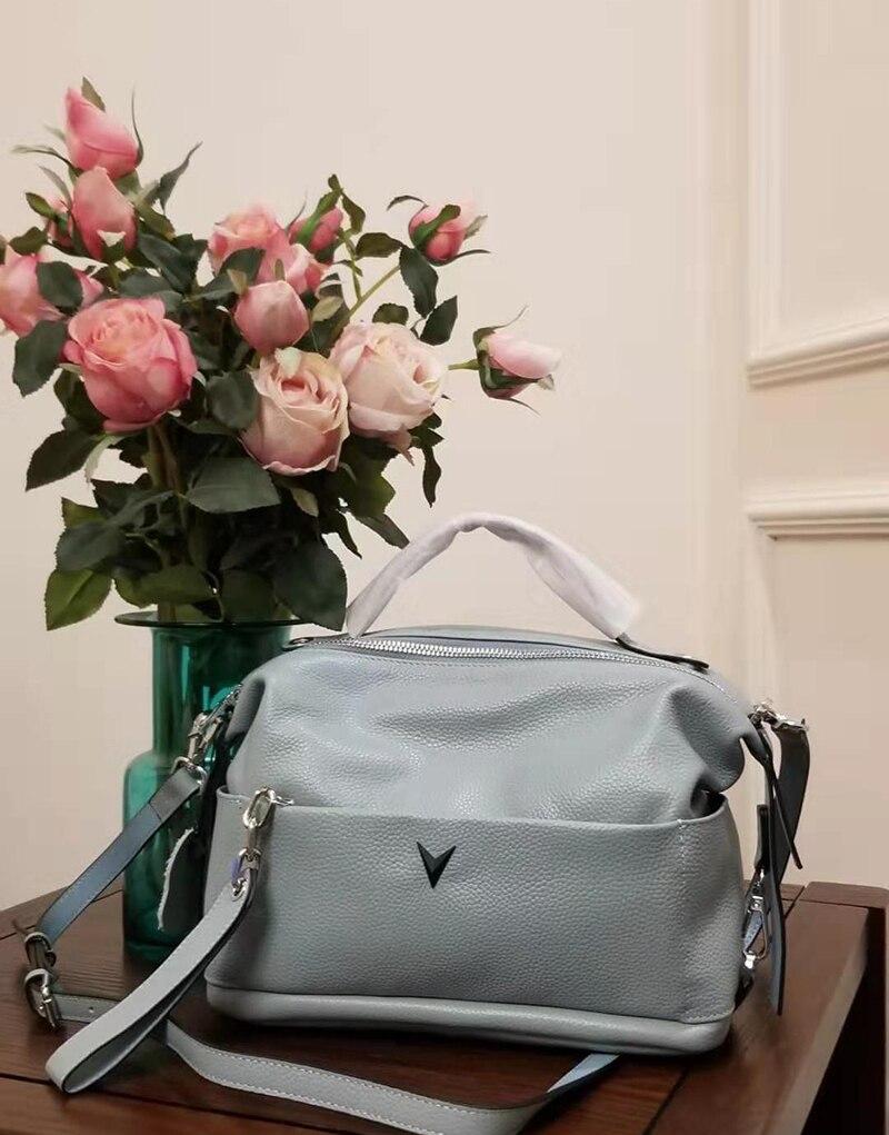 Женская сумка 2020 натуральная кожа сумки через плечо кожаная женская сумка для девушек Женские однотонные повседневные сумки мессенджеры tot|Сумки с ручками|   | АлиЭкспресс