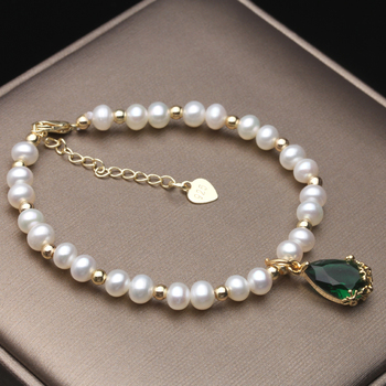 100% Real Freshwater Round Pearl Bracelet For Women Natural Pearl Bracelet Jewelry Girl Daughter Birthday Gift natural freshwater exquisite pearl bracelet women jewelry white pearl charms bracelet 925 silver jewelry wedding gift
