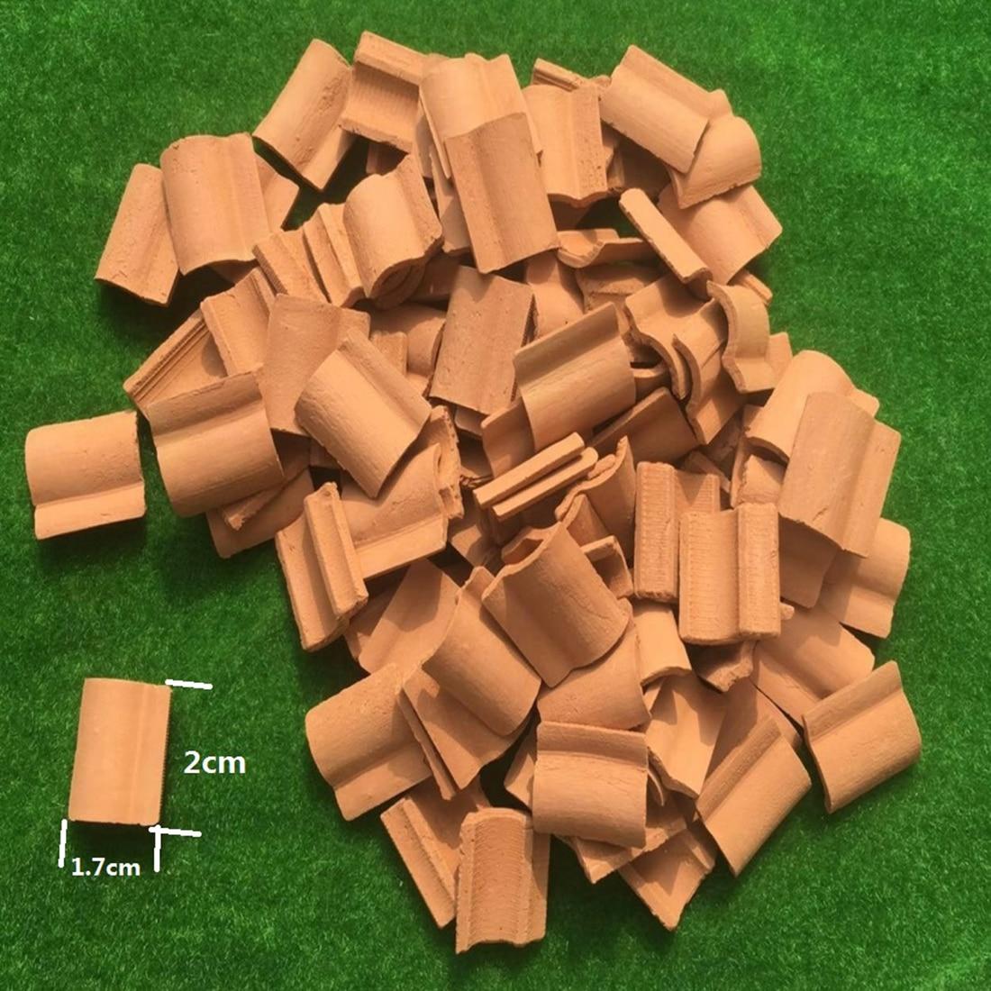 25Pcs/set 1:12 Scale DIY Sand Table Architecture Miniature Roof Tiles WWII Scene Mini Tiles Model Accessories  - Nacarat