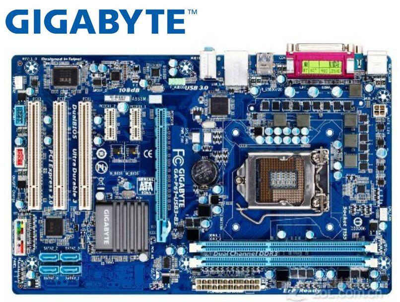 Placa base de escritorio Gigabyte GA-P61-USB3-B3 usada para intel DDR3 LGA 1155 P61-USB3-B3 16GB USB2.0 USB3.0 H61 placas base PC Placa base de escritorio X58 LGA 1366 4 canales DDR3 32GB RAM para Intel E5520/L5520 X5650 Core I7