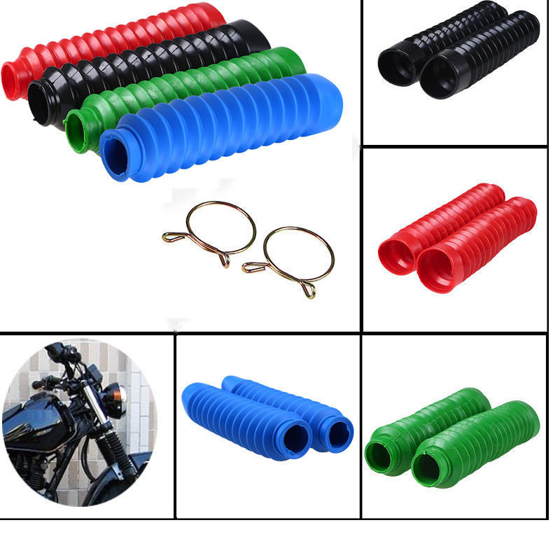 TDPRO Universal Motorcycle Rubber Protector Front Fork Gaiters Dust Cover Gators Boots Motorbike Shock Absorber Gaiter Covers in Falling Protection from Automobiles Motorcycles