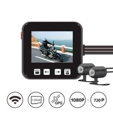 2019 newest waterproof lens motorcycle dashcam DVR M6Lg Wi-Fi dual 1080p FHD 720P camera(China)