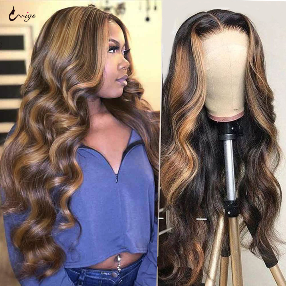 Uwigs 4/27 peruca de cabelo brasileiro, ondulada borgonha 99j frontal peruca 1b/27 ombre de cabelo humano 180 perucas remy de densidade