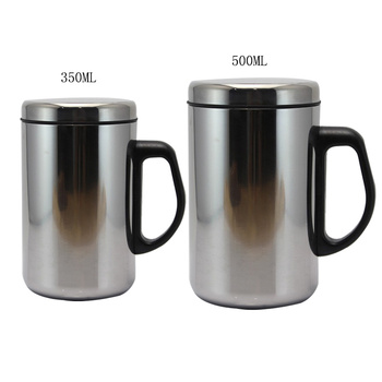1PCs 350/500ml Thermo Mug Double Wall Insulated Cup Stainless Steel Thermo Mug Water Bottle Vacuum Flask Coffee Tea Cup Bottles